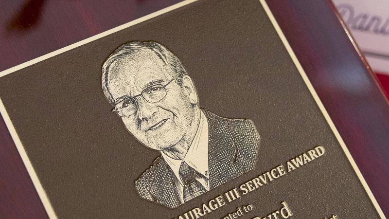 Norman Saurage Award Plaque