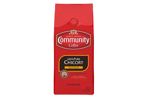 Community Coffee 100 Pure Chicory Medium Dark Roast Ground 12 Oz