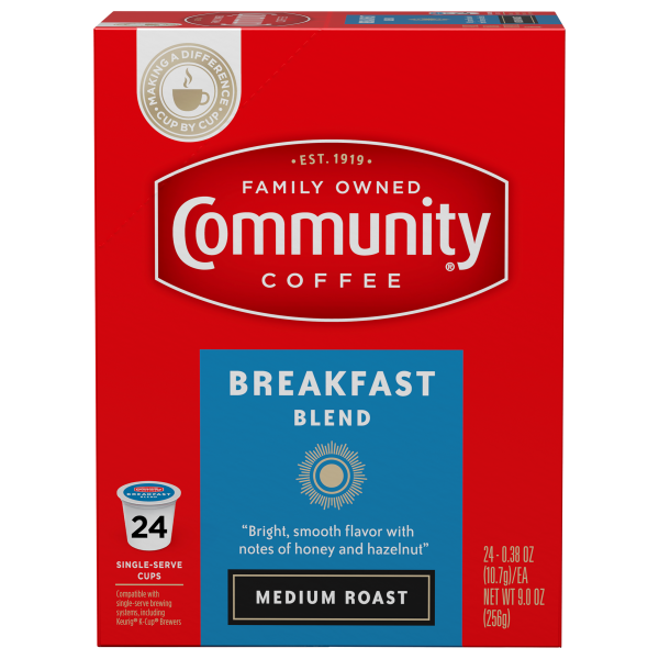 Breakfast Blend Coffee Pods 24 Count Community Coffee