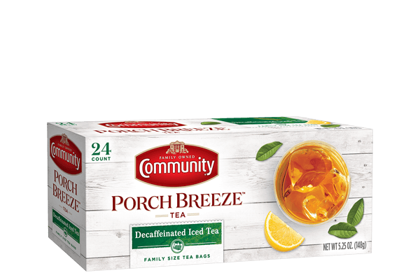 Community Coffee 24 Ct Decaf Family Size Tea Bags