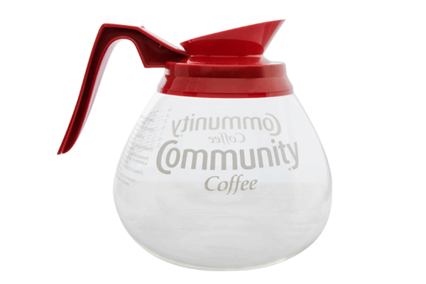 Community® Coffee 12 Cup Glass Bowl, Red